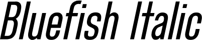 Preview image for Bluefish Demo Italic