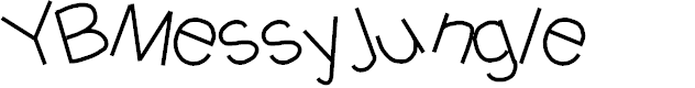Preview image for YBMessyJungle Font