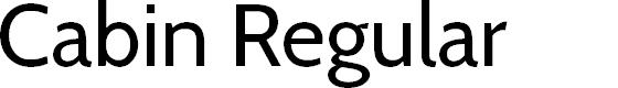 Preview image for Cabin Regular Font