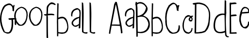 Preview image for 2Peas Goofball Font
