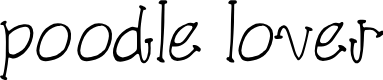 Preview image for poodle lover Font