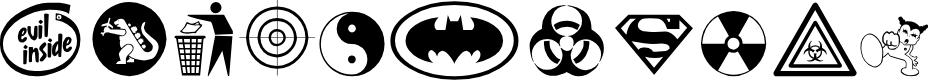 Preview image for Devil inside Font