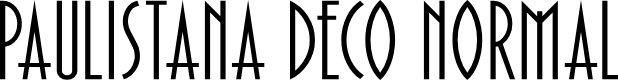 Preview image for Paulistana Deco Normal Font