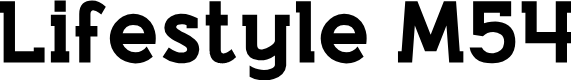 Preview image for Lifestyle M54 Font