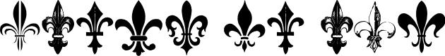 Preview image for Fleur de Lys Regular Font