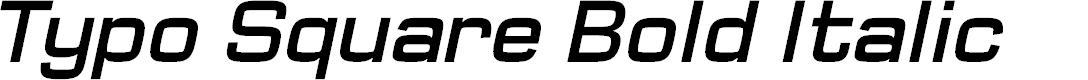Preview image for Typo Square Bold Italic Demo
