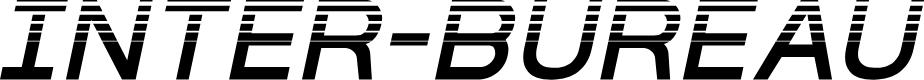 Preview image for Inter-Bureau Halftone Italic