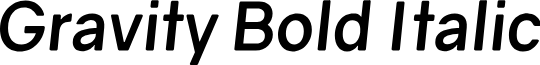 Gravity Bold Italic