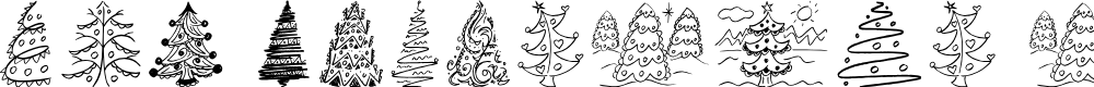 Preview image for Fun Christmas Trees Font