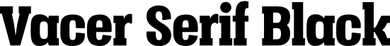Vacer Serif Personal Black