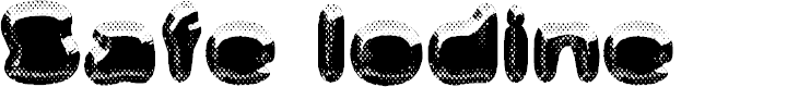 Preview image for Safe Iodine Font