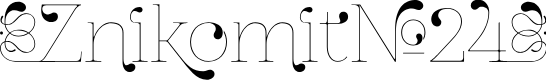 Preview image for ZnikomitNo24 Font