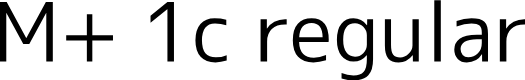 Preview image for M+ 1c regular Font