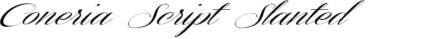 Preview image for Coneria Script Slanted Demo