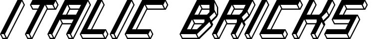 Preview image for Italic Bricks Regular Font