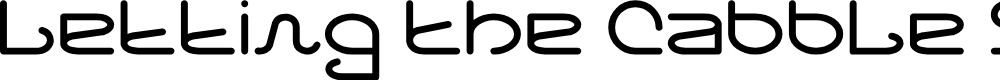Preview image for Letting The Cabble Sleep Font