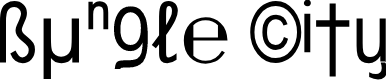 Preview image for Bungle City Font