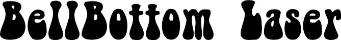 Preview image for BellBottom.Laser Font