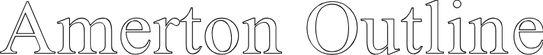 Preview image for Amerton Outline Font