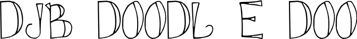 Preview image for DJB DOODL E DOO Font