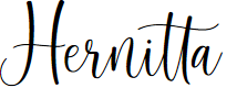 Preview image for Hernitta - Personal Use Font