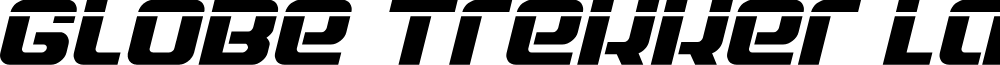 Globe Trekker Laser Italic