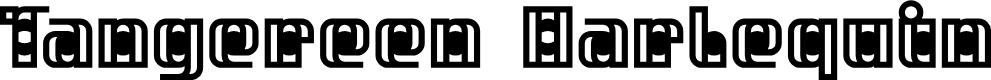 Preview image for Tangereen Harlequin Regular Font