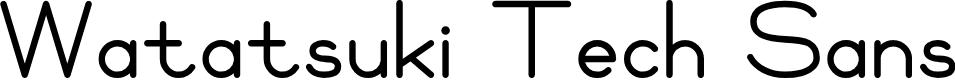 Preview image for Watatsuki Tech Sans Font