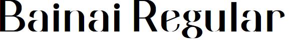 Preview image for Bainai Regular Font