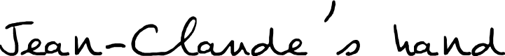 Preview image for Jean-Claude's hand Font