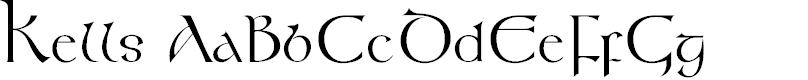 Preview image for KellsFLF Font