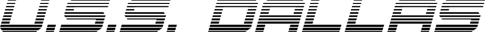 U.S.S. Dallas Gradient Italic