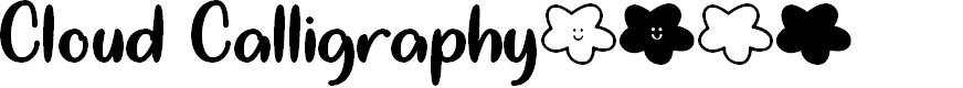 Preview image for Cloud Calligraphy Font