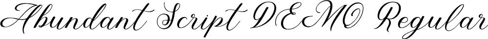 Preview image for Abundant Script DEMO Regular