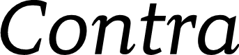 Preview image for Contra Italic