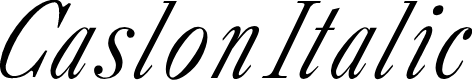 Preview image for CaslonItalic