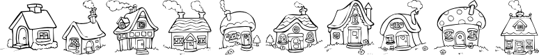 Preview image for Destiny's Little Houses Font
