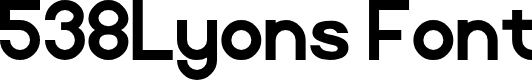 Preview image for 538Lyons Font