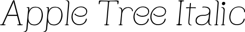 Apple Tree Italic