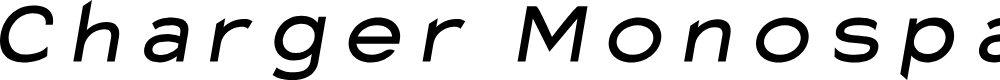 Preview image for Charger Monospace Extended Italic
