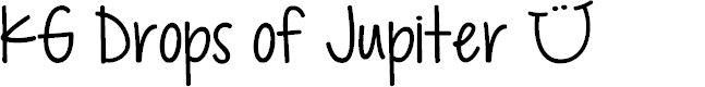 Preview image for KG Drops of Jupiter Font