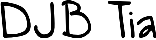 Preview image for DJB Tia Font