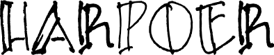 Preview image for HARPOER Font