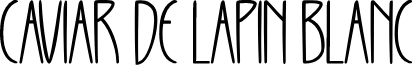 CAVIAR DE LAPIN BLANC