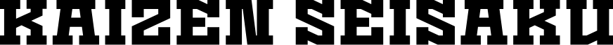 Kaizen Seisaku font