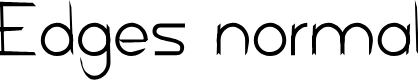 Preview image for Edges normal Font