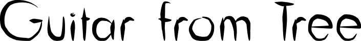 Preview image for Guitar from Tree Font