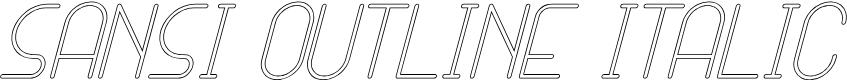 Preview image for SANSI Outline Italic Font