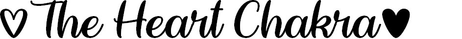 Preview image for The Heart Chakra Regular Font