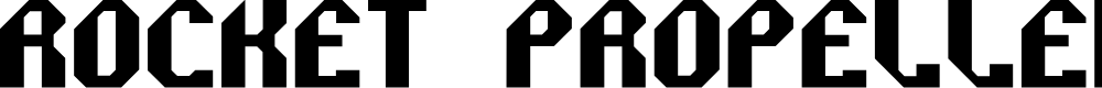 Preview image for Rocket Propelled Font
